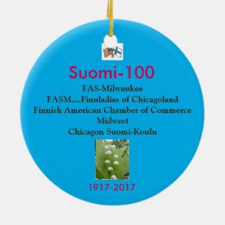 Adorno De Cerámica Recuerdo 1917-2017 del Centennial de Suomi 100