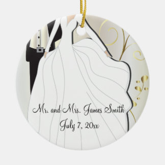 Adorno De Cerámica Recuerdo del boda de novia y del novio