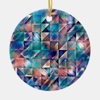 Adorno De Cerámica Reflexiones de textura de la turquesa