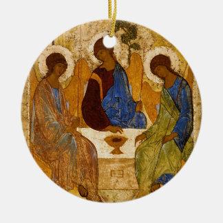 Adorno De Cerámica Regalo católico bizantino de Rublev del icono de