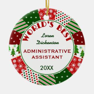 Adorno De Cerámica Regalo de 2017 el mejor navidad del Admin Asst