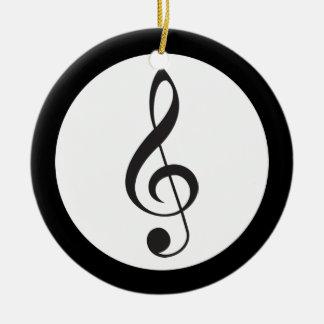 Adorno De Cerámica Regalo del músico del recuerdo del Clef agudo de