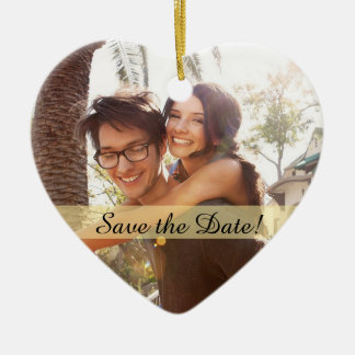 Adorno De Cerámica Reserva de encargo del boda de la foto la fecha