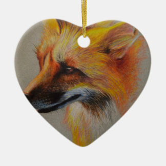 Adorno De Cerámica Retrato del Fox