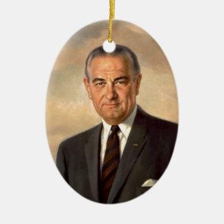 Adorno De Cerámica Retrato del funcionario de Lyndon Johnson