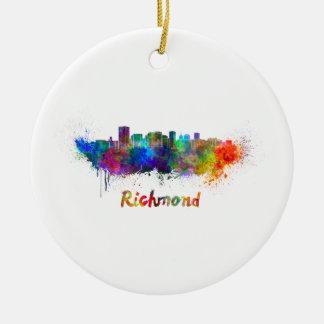 Adorno De Cerámica Richmond skyline in watercolor