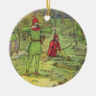 Adorno De Cerámica Robin Hood en el bosque