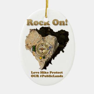 Adorno De Cerámica ¡ROCA ENCENDIDO! El alza del amor protege nuestros