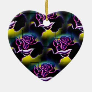 Adorno De Cerámica Rosas mágicas 6 de las flores