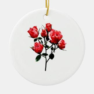 Adorno De Cerámica Rosas rosados oscuros del bebé