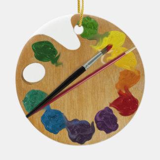 Adorno De Cerámica Rueda de color de la paleta del ` s del artista