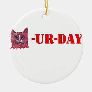 Adorno De Cerámica Sábado es Caturday