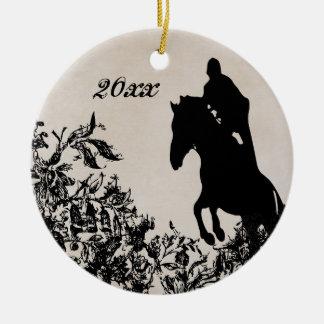 Adorno De Cerámica Salto ecuestre personalizado del caballo del