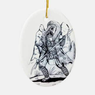 Adorno De Cerámica Samurai elemental del aire