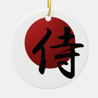 Adorno De Cerámica Samurai Sun