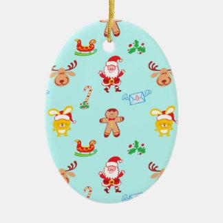 Adorno De Cerámica Santa, el reno, el conejito y la galleta sirven el