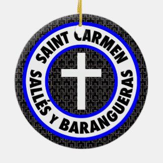 Adorno De Cerámica Santo Carmen Sallés y Barangueras