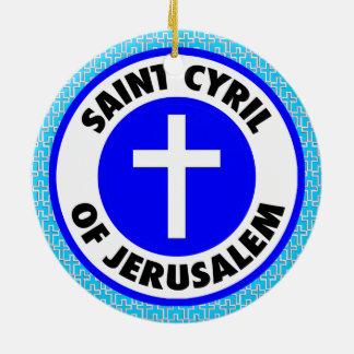 Adorno De Cerámica Santo Cyril de Jerusalén