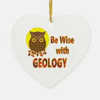 Adorno De Cerámica Sea sabio con la geología