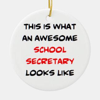 Adorno De Cerámica secretaria impresionante de la escuela