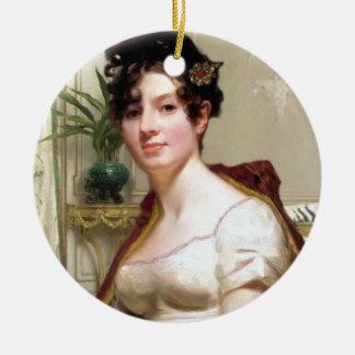 Adorno De Cerámica Señora Darcy Ornament