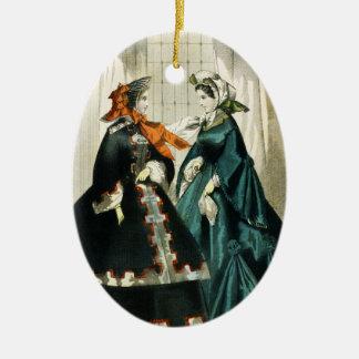 Adorno De Cerámica Señoras Edwardian del navidad de la suposición del