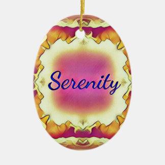 Adorno De Cerámica 'Serenity enmarcado inspirado bonito