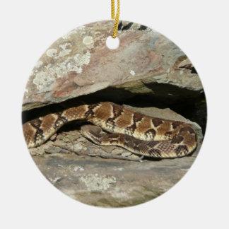 Adorno De Cerámica Serpiente de cascabel en el parque nacional de