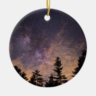 Adorno De Cerámica Silueta de árboles en la noche