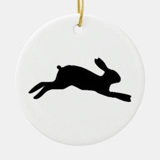 Adorno De Cerámica Silueta del conejo