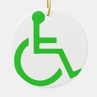 Adorno De Cerámica Símbolo de la silla de ruedas