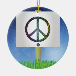 Adorno De Cerámica símbolo de paz