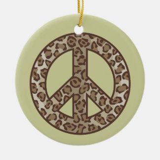 Adorno De Cerámica Símbolo de paz del leopardo