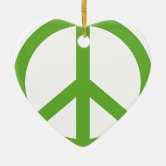 Adorno De Cerámica Símbolo verde del signo de la paz
