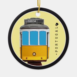 Adorno De Cerámica Símbolos del tranvía de Portugal - de Lisboa