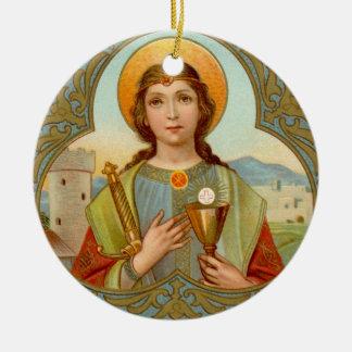 Adorno De Cerámica St. Barbara (BK 001) doble de la imagen