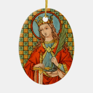 Adorno De Cerámica St. Barbara (JP 01) doble de la imagen