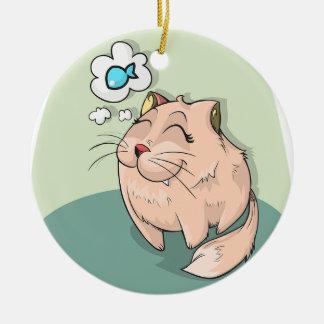 Adorno De Cerámica Sueño de los gatos
