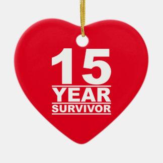 Adorno De Cerámica superviviente de 15 años