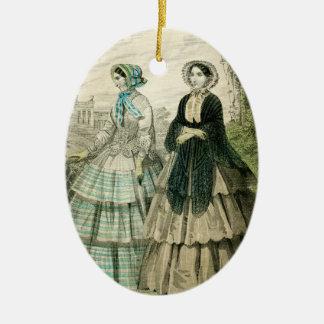Adorno De Cerámica Suposición de Edwardian de las mujeres del navidad