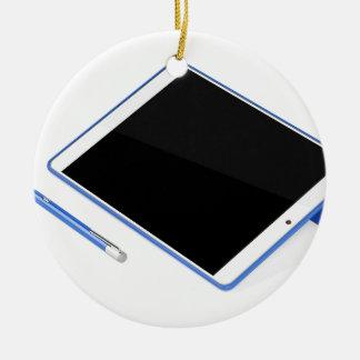 Adorno De Cerámica Tableta en soporte y pluma digital