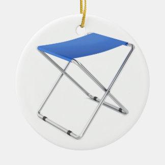 Adorno De Cerámica Taburete plegable azul