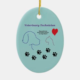 Adorno De Cerámica Técnico veterinario - impresiones de la pata en mi