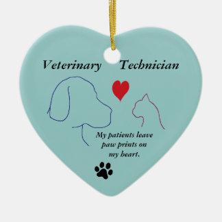 Adorno De Cerámica Técnico veterinario - la pata imprime en mi