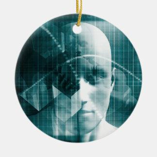 Adorno De Cerámica Tecnología futurista de la ciencia médica como