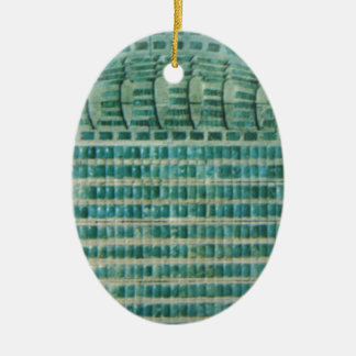 Adorno De Cerámica tejas azules del trullo