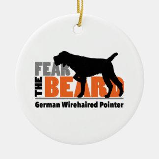 Adorno De Cerámica Tema la barba - indicador Wirehaired alemán