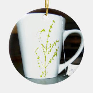 Adorno De Cerámica ¡Tenga un té de O de la taza!
