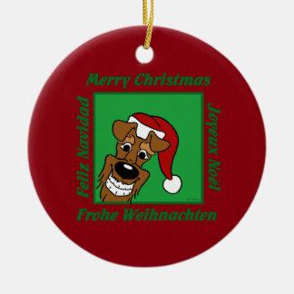 Adorno De Cerámica Terrier irlandesa Weihnacht