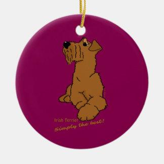 Adorno De Cerámica Terrier irlandesas - Simply the best!